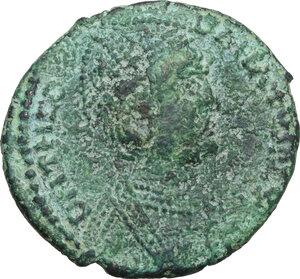 obverse: Ostrogothic Italy. Theodahad (534-536).AE 40 Nummi-Follis, Rome mint