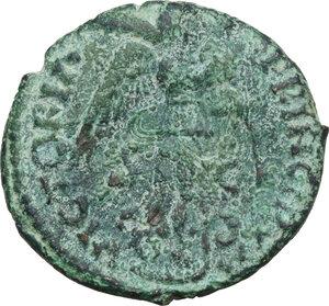 reverse: Ostrogothic Italy. Theodahad (534-536).AE 40 Nummi-Follis, Rome mint