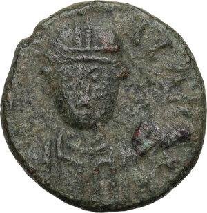 obverse: Ostrogothic Italy, Baduila (541-552).AE Decanummium, Rome mint, 549-552 AD