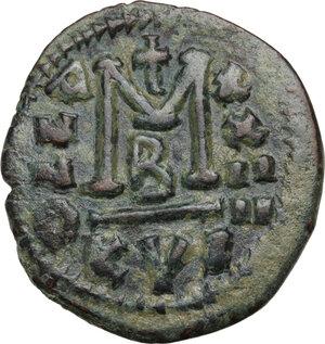 reverse: Justinian I (527-565).AE Follis, Cyzicus mint, RY 24 (550/1 AD)