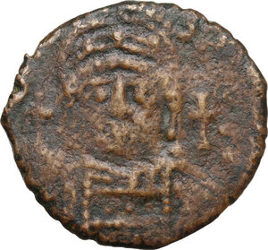 obverse: Justinian I (527-565).AE Half Follis, Theoupolis (Antioch) mint, RY 31 (557/8 AD)