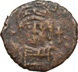obverse: Justinian I (527-565).AE Half Follis, Theoupolis (Antioch) mint, RY 31 (557/8 AD)