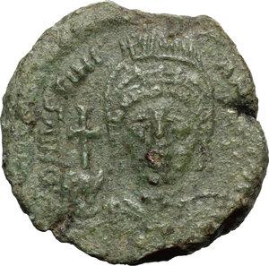 obverse: Justinian I (527-565). AE Half Follis. Sicilian mint(?) Dated RY 15 (541/2 AD)