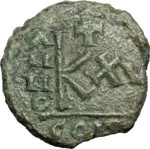 reverse: Justinian I (527-565). AE Half Follis. Sicilian mint(?) Dated RY 15 (541/2 AD)