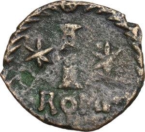 reverse: Justinian I (527-565).AE Decanummium, Rome mint