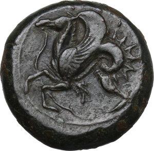 reverse: Syracuse. Dionysios I to Dionysios II.AE Litra, c. 375-344 BC