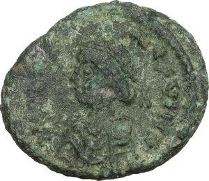 obverse: Justinian I (527-565).AE Decanummium, Perugia mint