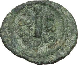 reverse: Justinian I (527-565).AE Decanummium, Perugia mint