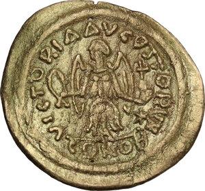 reverse: Justin II (565-578).AV Tremissis, Ravenna mint