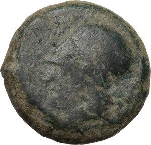obverse: Syracuse. Dionysios I to Dionysios II.Countermarked AE Litra, c. 375-344 BC