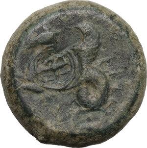 reverse: Syracuse. Dionysios I to Dionysios II.Countermarked AE Litra, c. 375-344 BC