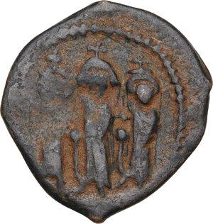 obverse: Heraclius (610-641).AE Follis, mint in Cyprus (Constantia?), RY 18 (627/8 AD)