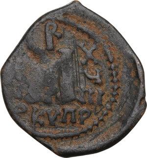 reverse: Heraclius (610-641).AE Follis, mint in Cyprus (Constantia?), RY 18 (627/8 AD)