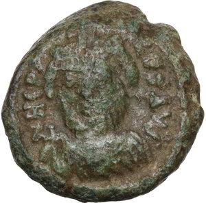 obverse: Heraclius (610-641).AE Decanummium. Catania mint. Dated RY 11 (620/1 AD)