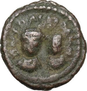 obverse: Heraclius (610-641).AE Half Follis, Rome mint