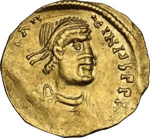 obverse: Constans II (641-668).AV Tremissis, Constantinople mint