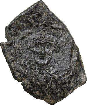 obverse: Constans II (641-668).AE Follis, Syracuse mint