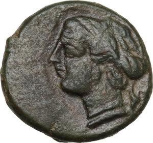 obverse: Syracuse. AE Onkia, 4th century BC