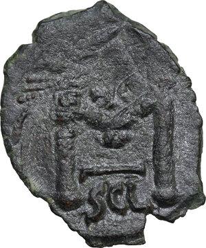 reverse: Constans II (641-668).AE Follis, Syracuse mint