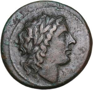 obverse: Syracuse. Hiketas (287-278 BC). AE 24.5 mm. c. 287-278 BC