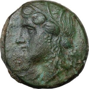 obverse: Syracuse. Hiketas (287-278 BC).AE 19.5 mm. 287-283 BC