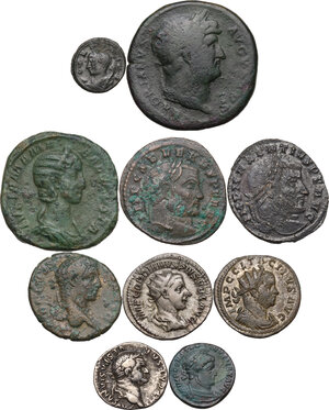 obverse: The Roman Empire.Multiple lot of ten (10) unclassified coins