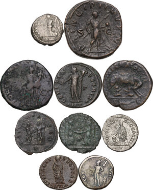 reverse: The Roman Empire.Multiple lot of ten (10) unclassified coins