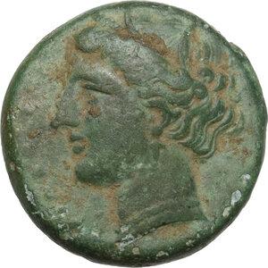 obverse: Syracuse. Hieron II (274-215 BC).AE 18.5mm, 275-269/265 BC