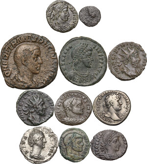 obverse: The Roman Empire.Multiple lot of eleven (11) unclassified coins