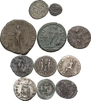 reverse: The Roman Empire.Multiple lot of eleven (11) unclassified coins