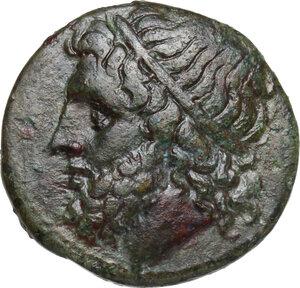 obverse: Syracuse. Hieron II (274-215 BC).AE Litra, 240-215 BC