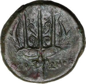 reverse: Syracuse. Hieron II (274-215 BC).AE Litra, 240-215 BC