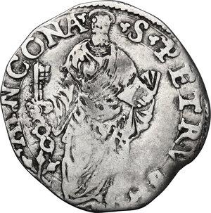reverse: Ancona. Giulio III (1550-1555), Giovanni Maria de  Ciocchi del Monte.Giulio