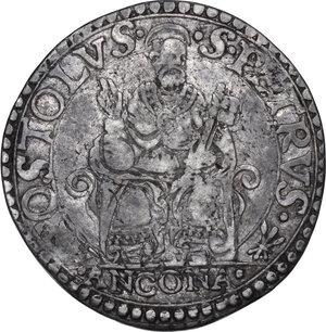 reverse: Ancona. Pio IV (1559-1565), Gian Angelo de  Medici . Testone
