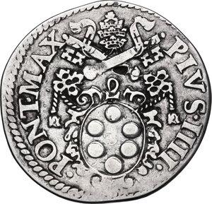 obverse: Ancona. Pio IV (1559-1565), Gian Angelo de  Medici . Testone
