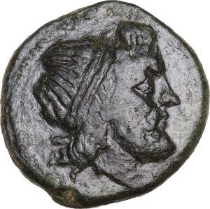 obverse: Syracuse. Fifth Democracy (214-212 BC).AE 15 mm. c. 214-212 BC