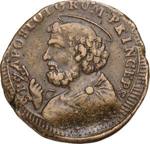 reverse: Ancona. Pio VI (1775-1799), Giovanni Angelo Braschi. Sanpietrino da 2 e mezzo baiocchi, 1796