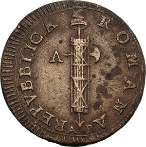 obverse: Ancona. Repubblica Romana (1798-1799).2 Baiocchi