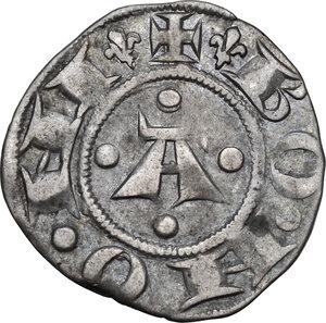 reverse: Bologna. Repubblica, a nome di Enrico VI Imperatore (1191-1337).Bolognino grosso