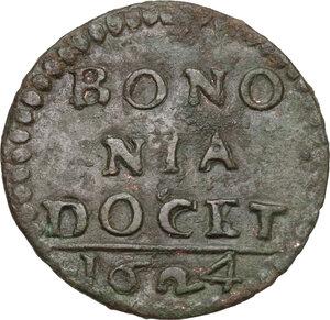 obverse: Bologna. Urbano VIII (1623-1644), Maffeo Barberini. Quattrino 1624