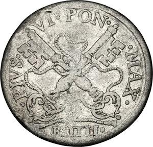 obverse: Bologna. Pio VI (1775-1799), Giovanni Angelo Braschi. Muraiola da 4 bolognini 1778
