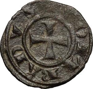 obverse: Brindisi. Corrado I di Svevia (1250-1254). Mezzo denaro