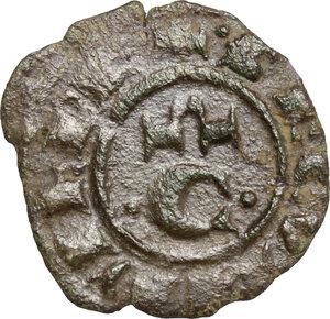 reverse: Brindisi o Messina. Corrado II di Svevia (Corradino) (1254-1258). Mezzo Denaro