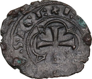obverse: Brindisi. Carlo I d Angiò (1266-1278). Denaro c. 1277