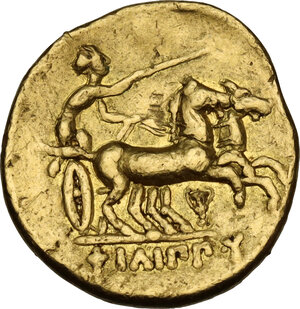 reverse: Kings of Macedon. Philip II (359-336 BC) - Alexander III (336-323 BC). AV Stater in the name and types of Philip II. Pella mint, c. 340-328 BC