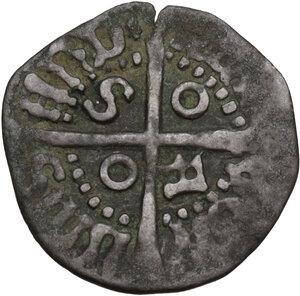 reverse: Cagliari. Alfonso V d Aragona (1416-1458).Denaro reale o picciolo (?)