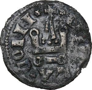 reverse: Campobasso. Nicola II di Monforte Conte (1461-1463). Tornese