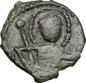 obverse: Capua. Pandolfo Capodiferro (961-981) o Anfuso (1135-1144). Follaro