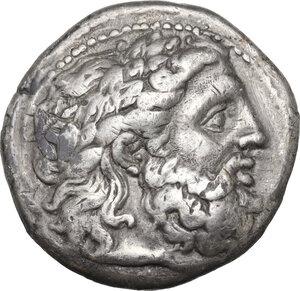 obverse: Kings of Macedon. Philip II (359-336 BC). AR Tetradrachm. Amphipolis mint. Lifetime issue, struck circa 348-342 BC