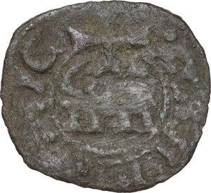 reverse: Catania. Federico IV d Aragona (1355-1377).Denaro